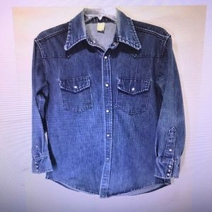Vintage Unbranded Western Pearl Snap Shirt M/L